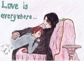 Harry und Snape in Love by TheFlyingHeart