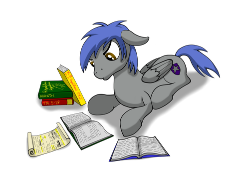Garrison Studying by THAT1ANDONLY