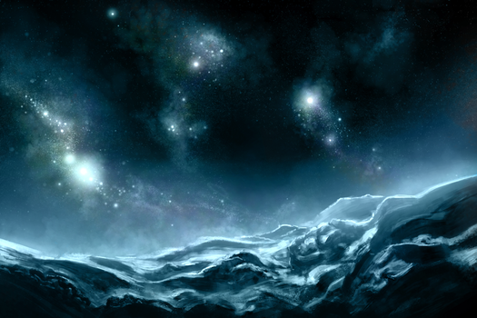 Space Mountains by RobTromans