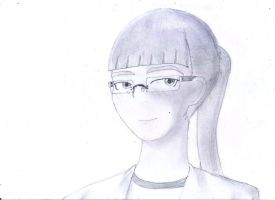 Girl with Glasses by haxorxor