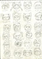 Chibi Faces 2 by Lunar-Virage