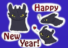 Toothless - Happy New Year by HileyCaine
