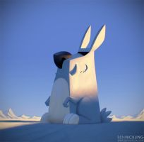 Snow Rabot by BenHickling