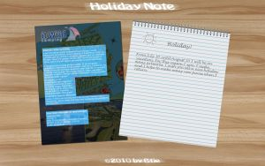 Holiday Note by Btje