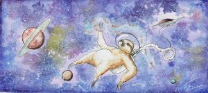 Sloth'n space by zyxzon