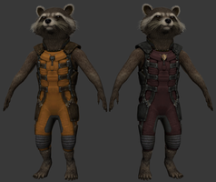 [WIP] GotG: Rocket Raccoon by The-Fat-Corgi