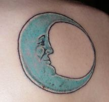 Moon tattoo - ink by Frankentrina