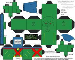 JLA 1: Martian Manhunter Cubee by TheFlyingDachshund
