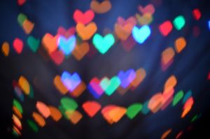 Christmas Lights Heart Bokeh by TheBoomPow