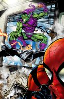 spidey vs. green goblin page 4 by spidey0318