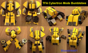 TFA Cybertron Mode Bumblebee Papercraft by BlueStrike01