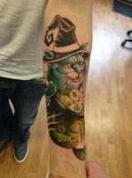 Halloweensleeve in progress by WillemXSM