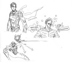 DOODLE: DCNU Supes WW Aquaman by PlanetDann
