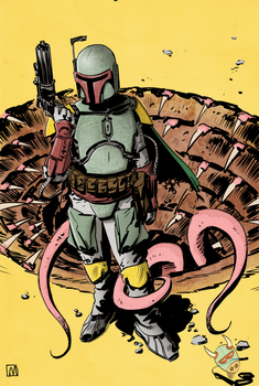 Boba Fett By Paul Moore by nachomoo