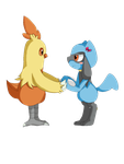 Riolu and Combusken by Riolu4aural
