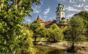 Muenchen on the Isar I by pingallery