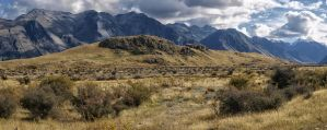 Mount Sunday aka Edoras Stock by Deceptico