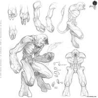 Doom 3 Sketches by Brett-Briley-TAD