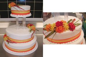 Candycorn Wedding Cake by ayarel