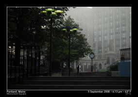 Foggy Monument Square by PhotographyByIsh