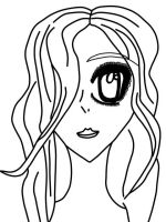 Girl with one eye Lineart by Urcha-Von-Leonard