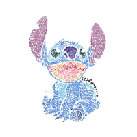 Stitch in Colored Pencil Monet Style by Fario-P