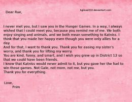 Prim's Letter to Rue by hglover210