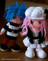 Shin and Reira Plushes by nitanita