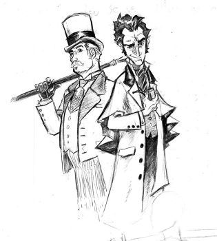 Holmes and Watson by mistermoster