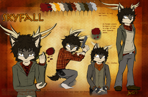 .:Character Reference Sheet:.Skyfall J. Catherwood by InkAntlers