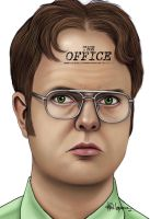 THE OFFICE - Dwight k. Shrute by LabrenzInk