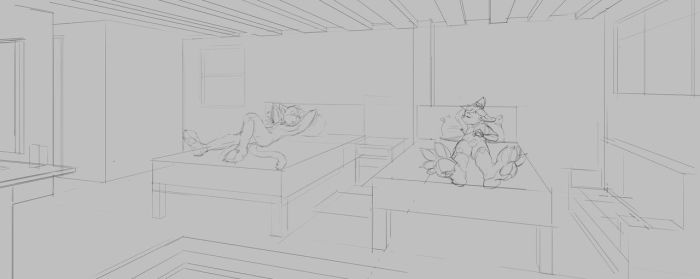 Roomates-perspstudy by GatoDelCielo