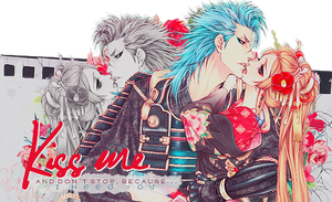 [Firma] Kiss me~ by xBlue-Editions