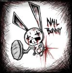 Nail Bunny - cute and bloody by Valyrei
