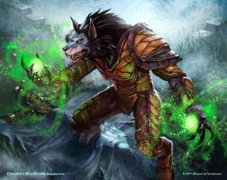 Worgen Druid by StephenCrowe