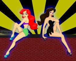 Ariel and Vanessa Pinup by MrSmearkase