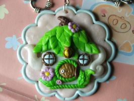 Fairy House Tea-pot pendant by Libellulina