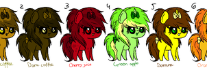 Themed pony adoptables by Karokas