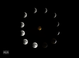 BloodMoon Eclipse Over Montreal by K-liss