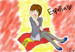 Nyotalia: Spain by Fireyami