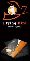 Flying Bird Travel Agency card by Advero