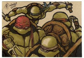 TMNT sketch card by mdavidct