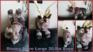 Disney Store Large 20.5in Sven by Vesperwolfy87