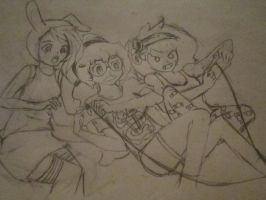 100TH DEVIANTION! MARCI,PB , AND FINN WITH BOOBS by Mustache7neko