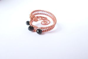 Adjustable wire wrapped copper ring by Toowired