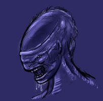 Xenomorph Transformation Quickie by ErnCer