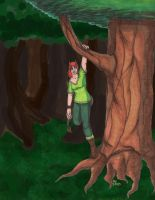 Yumi in the Woods by Cartoon-Trash