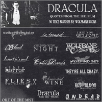 Dracula Icon Text Pack by jordannamorgan