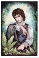 Sad Frodo by ebe-kastein