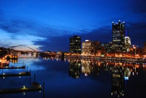 Pittsburgh sunset by zariens